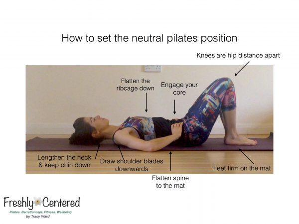 Pilates neutral spine and rest position
