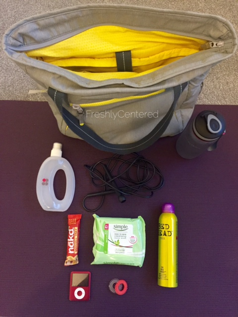 Workout bag essentials
