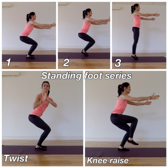 Standing pilates workout