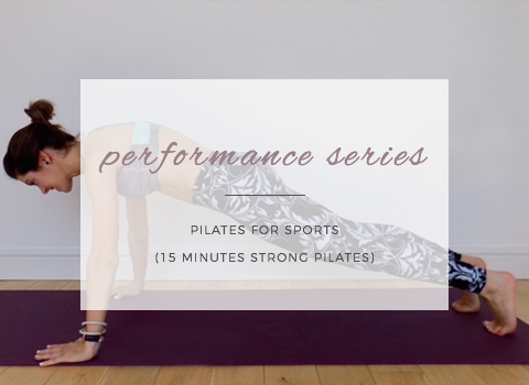 Pilates for Sport (free workout!)