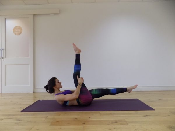 pilates scissors exercise
