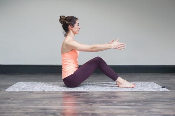 pilates seated start position