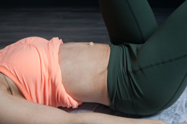 abdominal muscles with doming/bulging