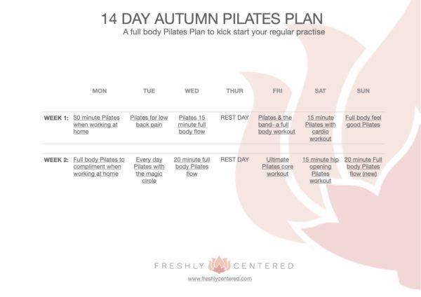 autumn Pilates Plan